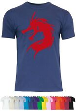 M71 F140 Herren T-Shirt mit Motiv Red Dragon