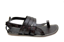 HITZ BRANDED LEATHER SANDALS IN BROWN COLORS COMFORT LEATHER SANDAL