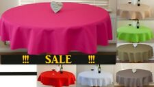 "High Quality ""LINEN"" Look Tablecloth 100%Polyester Round available 5 sizes."