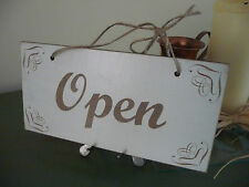 Open / Closed Shop Sign Wooden Shabby Double Sided Door Hanging Chic 3 Sizes