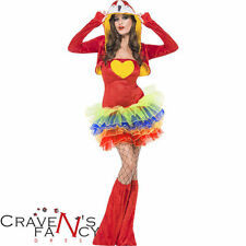 Parrot Birds of Paradise Tutu Ladies Sexy Fancy Dress Costume Hen Party Night
