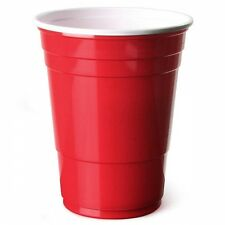 Red American Party Cups 16oz / 455ml Rudy Apple Disposable Plastic Beer Pong