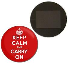 Red Keep Calm and Carry On Button Badge Fridge Magnet Decoration Fun BadgeBeast