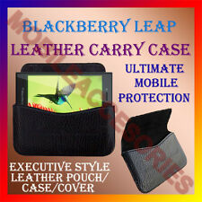 ACM-HORIZONTAL LEATHER CARRY CASE for BLACKBERRY LEAP MOBILE POUCH COVER HOLDER