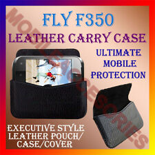 ACM-HORIZONTAL LEATHER CARRY CASE for FLY F350 MOBILE POUCH COVER HOLDER PROTECT