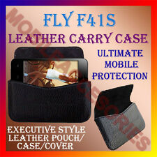 ACM-HORIZONTAL LEATHER CARRY CASE for FLY F41s MOBILE COVER POUCH HOLDER PROTECT