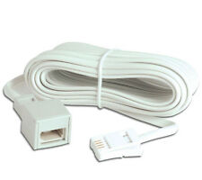 White Telephone Cable BT Landline Extension Home Cables Business Phone Systems