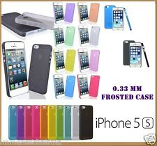 iPhone 5 5S Ultra Slim Semi Transparent Frost Frosted Back Case Cover