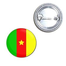 Cameroon Flag - Button Badge - Choice 25mm/55mm/77mm Novelty Fun BadgeBeast