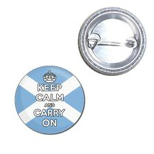 Scotland Keep Calm & Carry On Button Badge 25mm/55mm/77mm Novelty Fun BadgeBeast