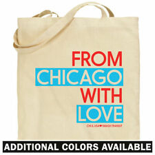 From Chicago With Love Tote Bag - 007 IL Windy City Shopping Shoulder Bag - NEW