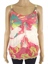 M&S Per Una Floral Strappy Chiffon Floaty Frill Cami Marks & Spencer Summer Top