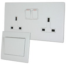 Retrotouch Simplicity White Screwless Sockets and Switches - Full Range