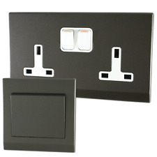 Retrotouch Simplicity Charcoal Screwless Sockets and Switches - Full Range