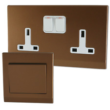 Retrotouch Simplicity Bronze Screwless Sockets and Switches - Full Range