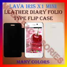 ACM-LEATHER DIARY FOLIO FLIP CASE for LAVA IRIS X1 MINI MOBILE FRONT BACK COVER