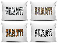 Personalised Leopard, Tiger, Zebra And Cow Print Pillow Cases - Brand New