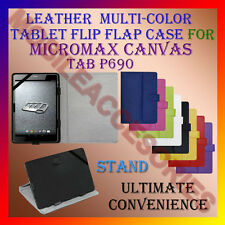 "ACM-LEATHER FLIP MULTI-COLOR 8"" COVER CASE STAND for MICROMAX CANVAS TAB P690"