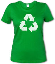 RECYCLE LOGO I TBBT TV Camiseta Chica - The Big Bang Girl Theory-Talla. XS - XXL