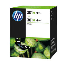 GENUINE HP BLACK HP 301XL (D8J45AE) HIGH CAPACITY INK CARTRIDGE VALUE TWIN PACK