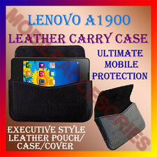 ACM-HORIZONTAL LEATHER CARRY CASE for LENOVO A1900 MOBILE COVER POUCH HOLDER