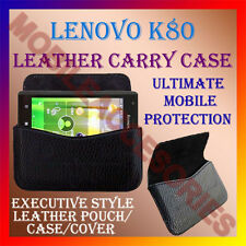 ACM-HORIZONTAL LEATHER CARRY CASE for LENOVO K80 MOBILE RICH COVER POUCH HOLDER
