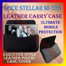 ACM-HORIZONTAL LEATHER CARRY CASE for SPICE STELLAR MI-528 MOBILE COVER POUCH
