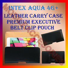 ACM-BELT CASE for INTEX AQUA 4G+ MOBILE LEATHER POUCH PREMIUM COVER HOLSTER NEW