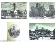 1891 ANTIQUE print  VARIOUS CATHEDRALS choice of 4 prints