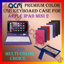 "ACM-USB COLOR KEYBOARD 8"" CASE for APPLE IPAD MINI 2 TABLET LEATHER COVER STAND"