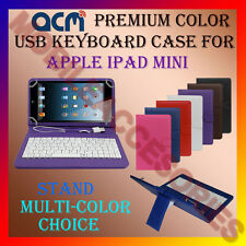 "ACM-USB COLOR KEYBOARD 8"" CASE for APPLE IPAD MINI TABLET LEATHER COVER STAND"