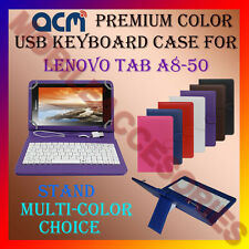 "ACM-USB COLOR KEYBOARD 8"" CASE for LENOVO TAB A8-50 TABLET LEATHER COVER STAND"