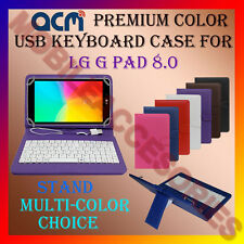"ACM-USB COLOR KEYBOARD 8"" CASE for LG G PAD 8.0 TABLET LEATHER COVER STAND FLIP"