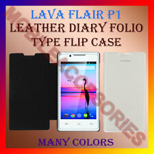 ACM-LEATHER DIARY FOLIO FLIP FLAP CASE for LAVA FLAIR P1 MOBILE FRONT/BACK COVER