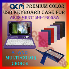 """ACM-USB COLOR KEYBOARD 7"""" CASE for ASUS ME371MG-1B058A TAB LEATHER COVER STAND"""