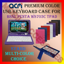 "ACM-USB COLOR KEYBOARD 7"" CASE for BSNL PENTA WS703C TPAD LEATHER COVER STAND"