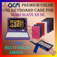 "ACM-USB COLOR KEYBOARD 7"" CASE for DOMO SLATE N8 SE TABLET LEATHER COVER STAND"