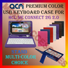 "ACM-USB COLOR KEYBOARD 7"" CASE for HCL ME CONNECT 2G 2.0 TAB LEATHER COVER STAND"