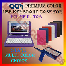 "ACM-USB COLOR KEYBOARD 7"" CASE for HCL ME U1 TABLET LEATHER COVER STAND FLIP NEW"