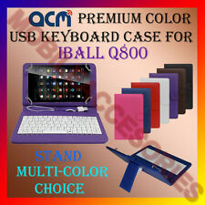 "ACM-USB COLOR KEYBOARD 7"" CASE for IBALL Q800 TABLET LEATHER COVER STAND FLIP"