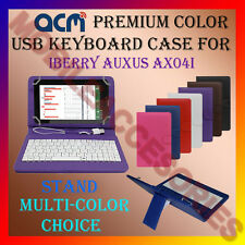 "ACM-USB COLOR KEYBOARD 7"" CASE for IBERRY AUXUS AX04I TABLET LEATHER COVER STAND"