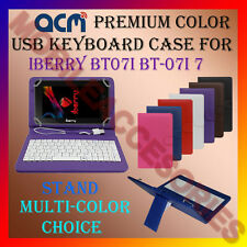 "ACM-USB COLOR KEYBOARD 7"" CASE for IBERRY BT07I 7"" BT-07I7 LEATHER COVER STAND"