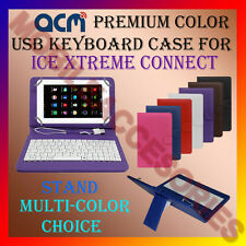 "ACM-USB COLOR KEYBOARD 7"" CASE for ICE XTREME CONNECT TAB LEATHER COVER STAND"