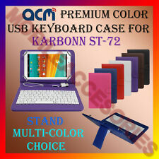 "ACM-USB COLOR KEYBOARD 7"" CASE for KARBONN ST-72 TABLET  LEATHER COVER STAND TAB"