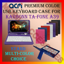 "ACM-USB COLOR KEYBOARD 7"" CASE for KARBONN TA-FONE A39 TAB LEATHER COVER STAND"