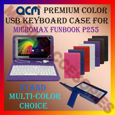 "ACM-USB COLOR KEYBOARD 7"" CASE for MICROMAX FUNBOOK P255 TAB LEATHER COVER STAND"
