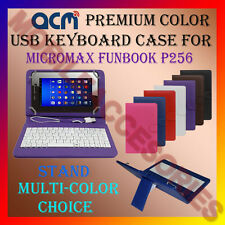 "ACM-USB COLOR KEYBOARD 7"" CASE for MICROMAX FUNBOOK P256 TAB LEATHER COVER STAND"
