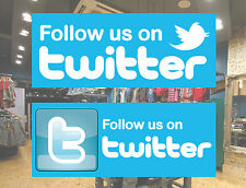 Twitter window van car shop sign car sticker bumper Vinyl follow us on twitter