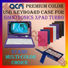"ACM-USB COLOR KEYBOARD 7"" CASE for SIMMTRONICS XPAD TURBO LEATHER COVER STAND"