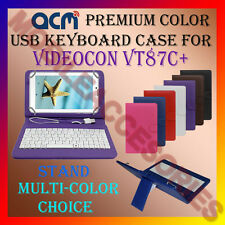 "ACM-USB COLOR KEYBOARD 7"" CASE for VIDEOCON VT87C+ TABLET LEATHER COVER STAND"
